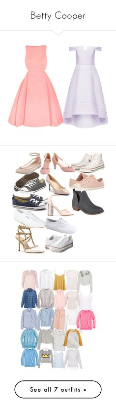 """""""Betty Cooper"""" by taught-to-fly19 on Polyvore featuring moda, Halston Heritage, Superga, ALDO, Prada, Converse, BCBGeneration, Valentino, Keds e Journee Collection"""
