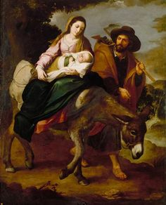 The Flight into Egypt - Bartolome Esteban Murillo.  1647-50.  Oil on canvas.  209.5 x 166.3 cm.  Detroit Institute of Arts, Detroit MI, USA.