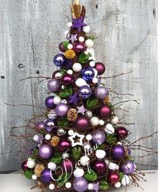 purple Xmas Easy Christmas Decorations, Cone Christmas Trees, Holiday Tree, Xmas Tree, Holiday Crafts, Christmas Wreaths, Christmas Ornaments, Purple Christmas, Christmas Mood