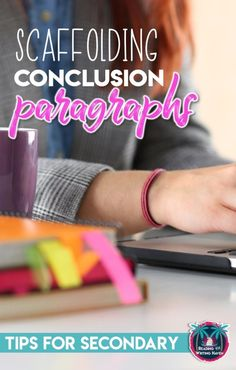 Ideas for teaching and scaffolding conclusion paragraphs in middle and high school. Minimize frustration and increase success! Writing Strategies, Writing Lessons, Teaching Strategies, Teaching Writing, Teaching Ideas, Writing Resources, Writing Ideas, Teaching English, Teaching Resources
