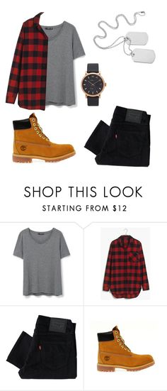 """my style of outfit"" by gh-x-da ❤ liked on Polyvore featuring MANGO, Madewell, Levi's, Timberland and Marc Jacobs"