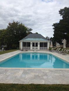 Upper Weyanoke Pool House via The Gracious Posse