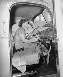 ladies are drivers too !  #trucking #oldtime #wantCDL ? Visit Roadmaster.com or call 800-831-1300