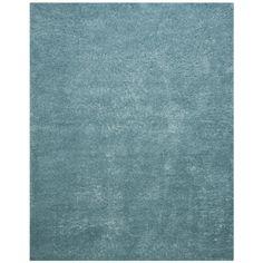 Safavieh Indie Shag Turquoise Polyester Rug (5' 1 x 7' 6) (SGI320T-5), Green, Size 5' x 7'