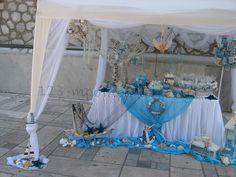 ΣΤΟΛΙΣΜΟΣ ΒΑΠΤΙΣΗΣ ΕΚΚΛΗΣΙΑΣ ΓΙΑ ΑΓΟΡΙ - ΝΑΥΤΙΚΟΣ - ΤΟΥΜΠΑ- ΚΩΔ.: THA445 Hanukkah, Wreaths, Table Decorations, Tropical, Party, Wedding, Home Decor, Wedding Outfits, Weddings