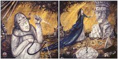 Vasily Kafanov art from the Smashing Pumpkins' Machina/The Machines Of God album booklet