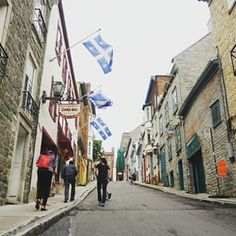 When it hung signs outside of its shops just like old times.   21 Times Old Quebec City Was Too Beautifully Quaint For Its Own Good
