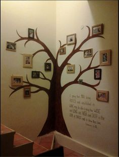 61 Ideas For Family Tree Display Ideas Pictures Family Tree Mural, Family Trees, Family Tree Designs, Antique Picture Frames, Family Crafts, Wall Art Designs, Photo Displays, Tree Art, Diy Wall