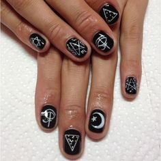 """Nail inspo this would look great with our witchy jewels ☯☯☯☯☯☯☯☯☯☯☯☯☯☯☯☯☯☯ Blackmoonshop.bigcartel.com -------------- #blackmoonshop #grunge #grungestyle…"""