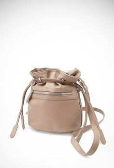 Pin for Later: 40 Budget-Friendly Bucket Bags Under £50 Forever 21 Faux Leather Drawstring Bucket Bag Forever 21 Faux Leather Drawstring Bucket Bag (£19)