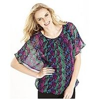 Print Blouse - Large Size Clothing - www.plussizedglamour.co.uk