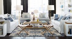 Classic Hamptons Style with Blue Accents