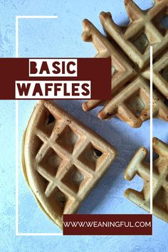 Don't let this basic waffle recipe fool you. It's greatly customizable and the fillings you can use are very diverse: fruits, veggies, meat, cheese or nuts. They are great from 6 months and up and a great alternative for breakfast, lunch or dinner. Easy Snacks For Kids, Healthy Meals For Kids, Dinners For Kids, Meals For One, Easy Healthy Recipes, Baby Meals, Kid Meals, Waffle Recipes, Baby Food Recipes