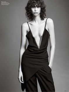 Top model Mica Arganaraz teams up with designer Anthony Vaccarello for the cover story of Vamp Magazine's edition lensed by fashion photographer Nico. Love Fashion, Fashion Models, Androgynous Women, Androgyny, Sexy Outfits, Fashion Outfits, Petkovic, 2016 Fashion Trends, Anthony Vaccarello