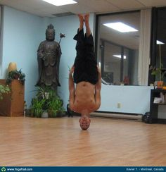 """Anywhere #Yoga Contest - win an iPhone 5: """"Headstand - by Xavier T."""""""