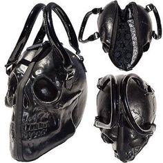 c61b6431e Kreepsville 666 Skull Black Purse Death Skull Skeleton Coffin Handbag Bag