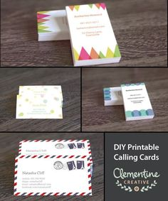 5 ways to make unique business cards etsy business business and cards polka dots colorful circles geometric abstract triangles and air mail envelope designs customizable so you can personalize yourself this business card reheart Gallery