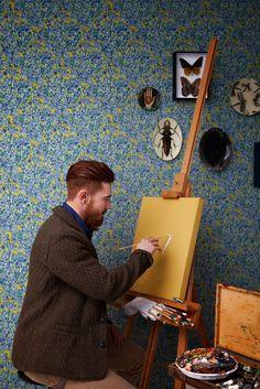 Wallpaper inspired by Vincent Van Gogh Van Gogh Wallpaper, Love Wallpaper, Pattern Wallpaper, Van Gogh Tapete, Van Gogh Museum, Art Van, Famous Words, Yellow Pattern, Closer To Nature