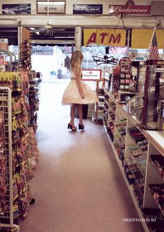 girls in convenience stores all dress up