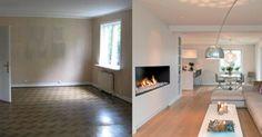 Huset var som en labyrint med små mørke rom. Se forvandlingen etter at interiørarkitektene rev ned veggene.