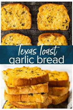 Cheesy Garlic Bread is the perfect appetizer or side for any meal! This Texas Toast Garlic Bread is nice and thick, covered in butter, cheese, & garlic. Texas Toast Garlic Bread, Make Garlic Bread, Garlic Cheese Bread, Butter Cheese, Easy Bread Recipes, Cooking Recipes, Quick Bread, Cooking Tips, Breads
