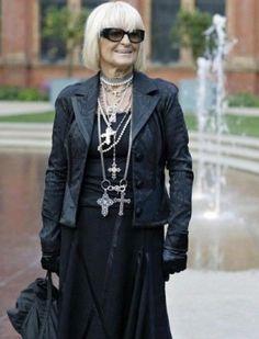 Why would you change your fashion sense just ´cause you get older-  Barbara Hulanicki, founder of Biba