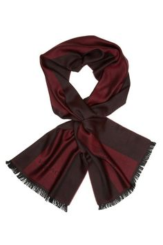 Versace Wool Cold Weather Scarf Red burgundy