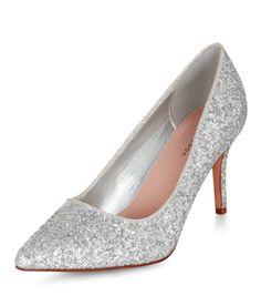 f9d9a8c1f14b Silver Glitter Pointed Heels. Silver Glitter PumpsGlitter ShoesSilver ShoesPointed  HeelsHigh ...