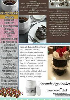 your Pampered Chef Ceramic Egg Cooker at /nsparman Pampered Chef Egg Cooker, Pampered Chef Party, Pampered Chef Recipes, Pampered Chef Products, Mug Recipes, Sweet Recipes, Dessert Recipes, Desserts, Postres