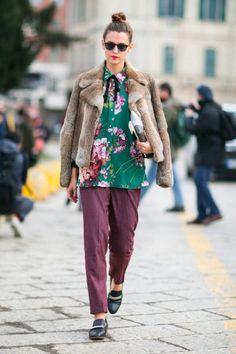 Moda uliczna Milan Fashion Week jesień-zima 2016/2017 / fot. ImaxTree / agencja Free
