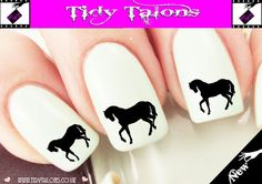 BLACK HORSE Nail Art Water Slide Nail Wrap Decal for all Nail Types #1 | eBay