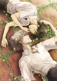 Shinji Ikari x Kaworu Nagisa (Evangelion) It's literally canon and I cannot handle it