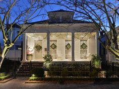 Shotgun House Home Design Ideas, Pictures, Remodel and Decor More (small cottage plans pictures) Cottage Living, Cozy Cottage, Cottage Homes, Cottage Style, Creole Cottage, Cottage Ideas, Wrought Iron Fences, New Orleans Homes, Traditional Exterior