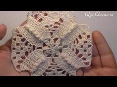 Square VINTAGE WEAVING P1 Квадрат крючком Старинное плетение Ч1 - YouTube