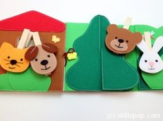 Feed The Animals Clothespin Felt Game PDF Pattern