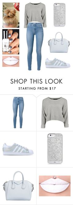 """Gray & White"" by aminataremy ❤ liked on Polyvore featuring adidas Originals, Givenchy, women's clothing, women's fashion, women, female, woman, misses and juniors"