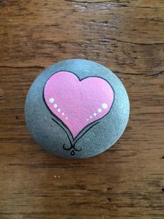 A perfect little token of love for Valentine's Day! #paintedrock #valentines #ad #heart