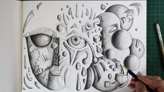 Surrealism Drawing, Automatic Drawing, Drawing Practice, Pencil Drawings, Psychedelic, The Creator, Arts And Crafts, Drawing Exercises, Trippy