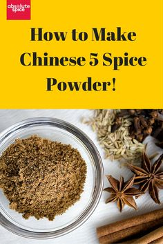 How to make your own Chinese 5 Spice Powder blend...