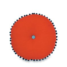 Geranium Paros Cushion with Pom Poms by Citta Design | Citta Design Australia