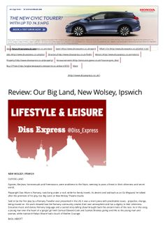 Diss Express Review of Our Big Land Theatre Production at The New Wolsey Studio, Ipswich