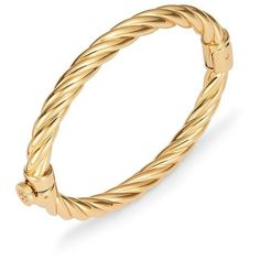 en finish rose gold steel bracelet twisted