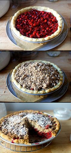 Cranberry Pie with Thick Pecan Crumble recipe
