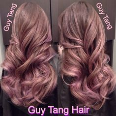 Ombre Hair - I spent nearly 9 hours perfecting my client Veny hair color today with soft lavender blonde tones! I layered numerous things I can't even remember to insure the result meets my end vision! I just want to surrender to her hair