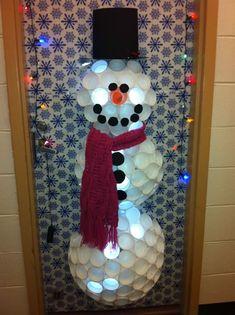 Christmas Snowman Dorm Door Decoration Dorm Door