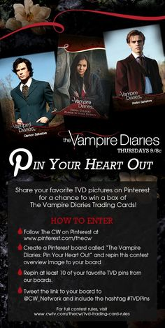 Enter for a chance to win The Vampire Diaries trading cards! http://www.phonesontv.com/category/the-vampire-diaries/