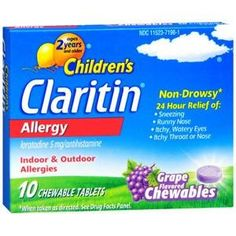 Children's Claritin 24 Hour Allergy Relief Grape Chewable Tablets 10ct