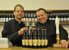Gazette & Herald: Father Wulstan Peterburs, left, and Father Jeremy Sierla toast Ampleforth Abbey Beer, which is about to sell its 75,000th ...