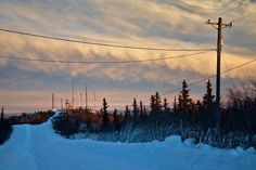Beautiful light on the first day of 2014 in Fairbanks. A few shots from the backyard and from Ester Dome over town.