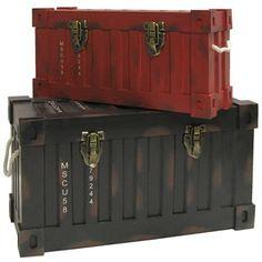 Black & Red MDF Trunk Set | Shop Hobby Lobby